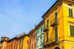 Historic architecture of Cremona on a sunny day royalty free stock photo