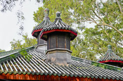 Historic Architecture details of Chinese garden. Ancient Chinese architecture:the garden landscape Royalty Free Stock Image