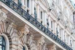 Historic architecture, Hamburg Town-hall. Close-up of an old building, the town-hall in Hamburg, Germany Stock Photography