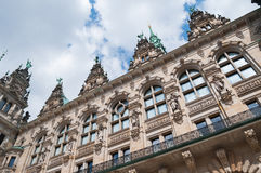 Historic architecture, Hamburg Town-hall. Close-up of an old building, the town-hall in Hamburg, Germany Royalty Free Stock Images