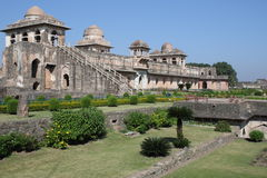 Historic architecture, jahaz mahal. Castle shipboard mandu, madhya pradesh, india is located its construction was in the time of ghyasuddin khilji ship castle Stock Images
