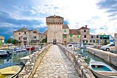 Historic architecture of Kastel Gomilica. Split, Croatia royalty free stock images