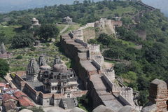 Historic architecture, kumbhalgarh fort wall Stock Image