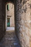Split old town alley royalty free stock photos
