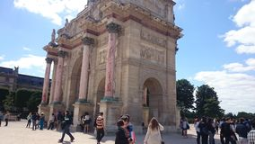 Arch as entry to the Louvre from the Tuilleries gardens in Paris, France. Stock Image