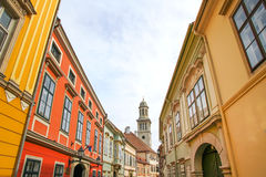 Historic architecture in Sopron. Hungary, Europe Stock Photography