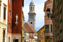 Historic architecture in Sopron. Hungary, Europe Royalty Free Stock Photo
