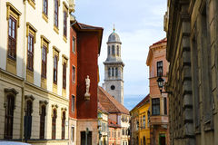 Historic architecture in Sopron Stock Photo