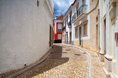 Historic architecture in Tavira city royalty free stock photo
