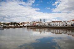 Historic architecture in Tavira city, Algarve,Portugal Stock Photo