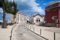 Historic architecture in Tavira city, Algarve,Portugal Royalty Free Stock Photo