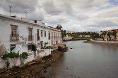 Historic architecture in Tavira city, Algarve,Portugal Stock Photography