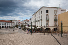Historic architecture in Tavira city, Algarve,Portugal Royalty Free Stock Image