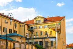 Historic architecture of Torino on a sunny day royalty free stock images
