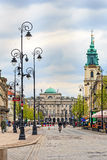 Historic architecture of Warsaw Stock Photo
