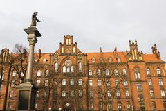 Historic architecture in Wroclaw, Poland stock images