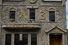 Historic Arctic Brotherhood Hall in Skagway, Alaska Stock Images