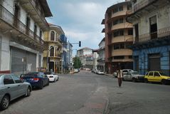 Historic area of Casco Antiguo, Republic of Panama. Stock Image