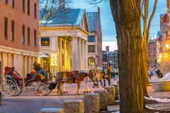 Historic area of downtown Boston, Massachusetts Royalty Free Stock Photography