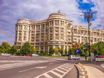 Historic arhitecture facade , Bucharest Royalty Free Stock Images