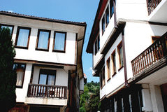 Historic arhitekture in Macedonia,typical for Ohrid. Typical house in Ohrid, Macedonia Stock Photo
