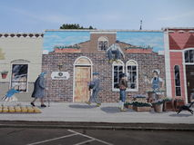 Historic art mural Royalty Free Stock Photo