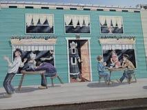 Historic art mural Stock Photo