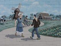 Historic art mural Stock Photography