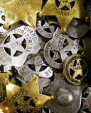 Historic assorted  USA Law enforcement badges. Historic Assorted usa law badges Stock Photography