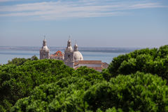 Historic attractions of city Lisbon Royalty Free Stock Images