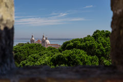 Historic attractions of city Lisbon Royalty Free Stock Image