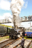 Historic Austrian steam engine shunting Royalty Free Stock Image