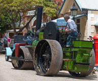 Historic Aveling steam roller in Echuca. Stock Image