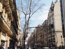 Avenida de Mayo, Buenos Aires. Historic Avenida de Mayo in Buenos Aires Stock Images