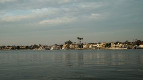 Historic Balboa Island Ferry Time Lapse Video Stock Images