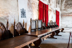 Historic banquet hall Royalty Free Stock Photo