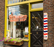 Historic Barbershop, Queen Anne Seattle royalty free stock image