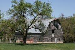Historic Barn located in Kansas, that`s used daily stock image