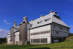 The historic barn, Ministers Island, St. Andrews, New Brunswick. The historic barn on the Van Horne Estate on Ministers Island, St. Andrews, New Brunswick, now stock image