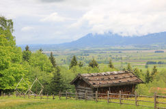 Historic barn and panoramic landscape, bavaria Stock Images