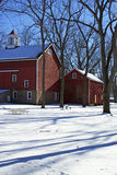 Historic barn in winter Royalty Free Stock Image