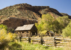 Historic barns. Historic lgo barns in Grafton, Utah Stock Images