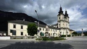 Spital am Pyhrn Cathedral, Oberosterreich, Austria stock photography