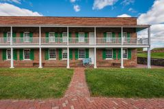 Historic barracks at Fort McHenry, in Baltimore, Maryland.  royalty free stock photography