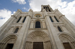 Historic Basilica of Saint Denis in france Stock Photo