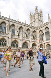 Historic Bath Abbey in Somerset England Stock Images