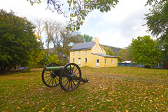 Historic battlefield cannon in Harpers Ferry, West Virginia, USA. Stock Photos
