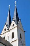Historic Bavarian church steeple Stock Photos