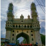 The Historic Beautiful Charminar. royalty free stock photography