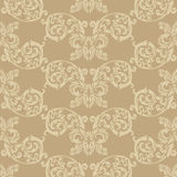 Historic beige wallpaper Royalty Free Stock Photo